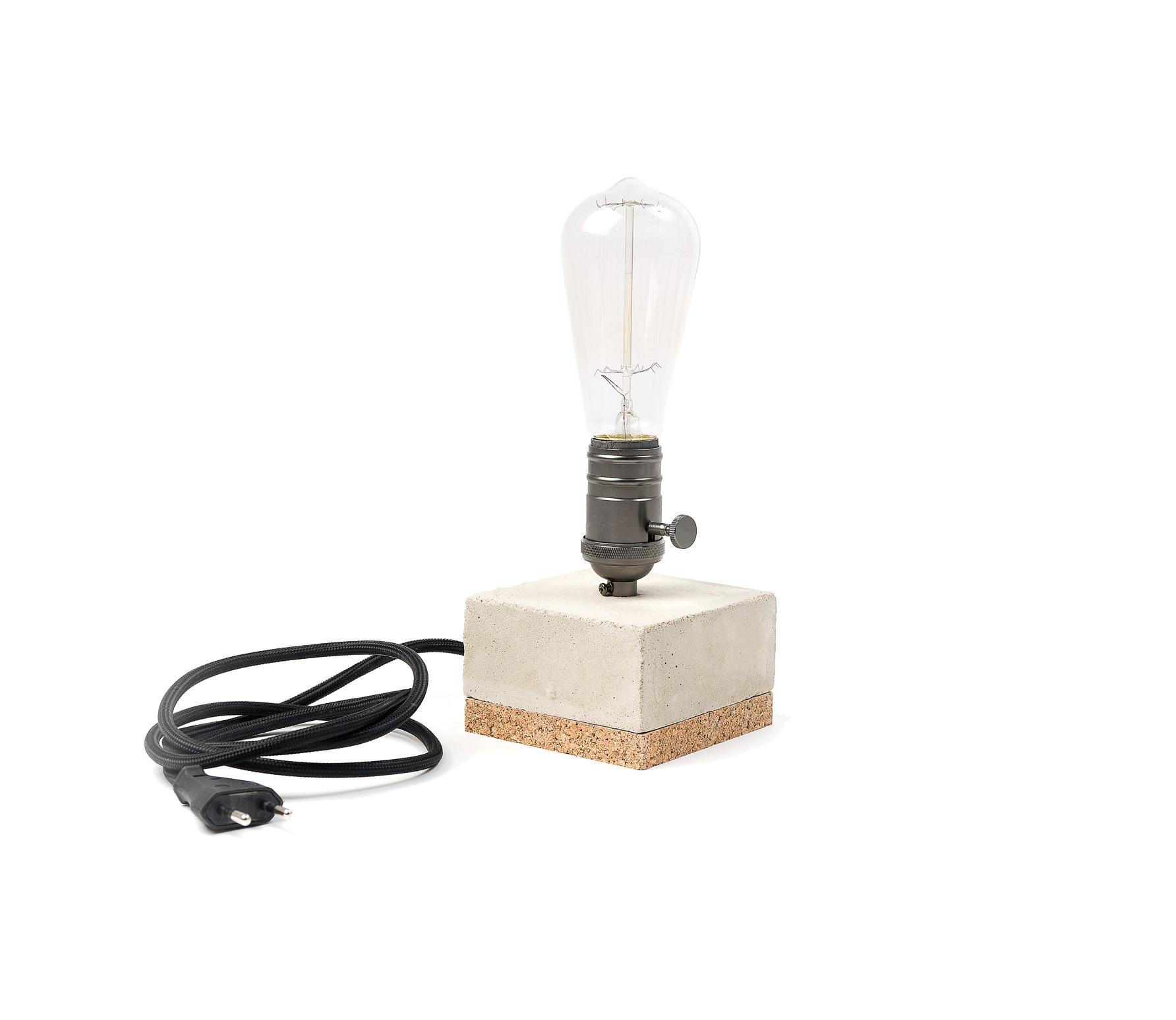 Edison tafellamp zwart incl lamp Zwart