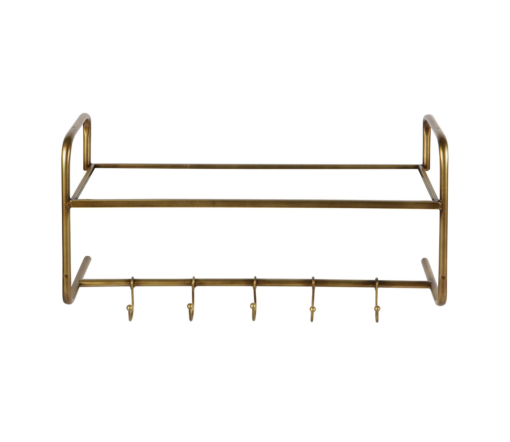 BePureHome Hatstand hangende kapstok metaal antique brass VS 02