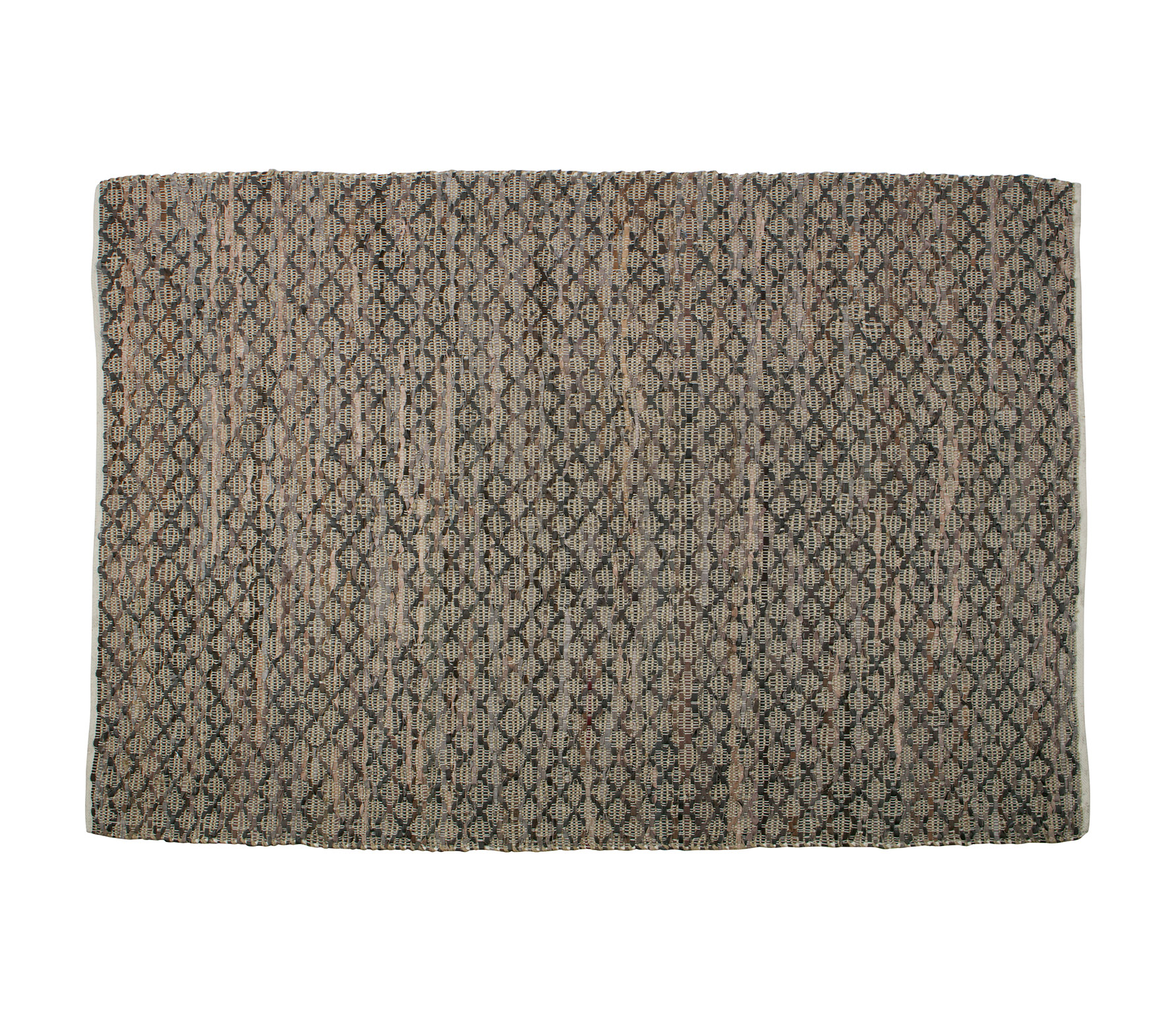 BePureHome Twined vloerkleed jute/leer naturel VS 01