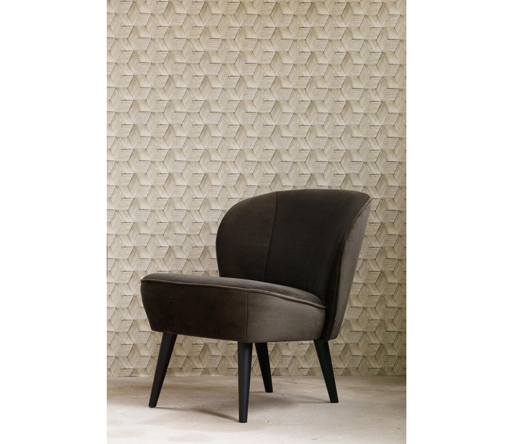 Woood Sara fauteuil fluweel warmgroen sfeer 4