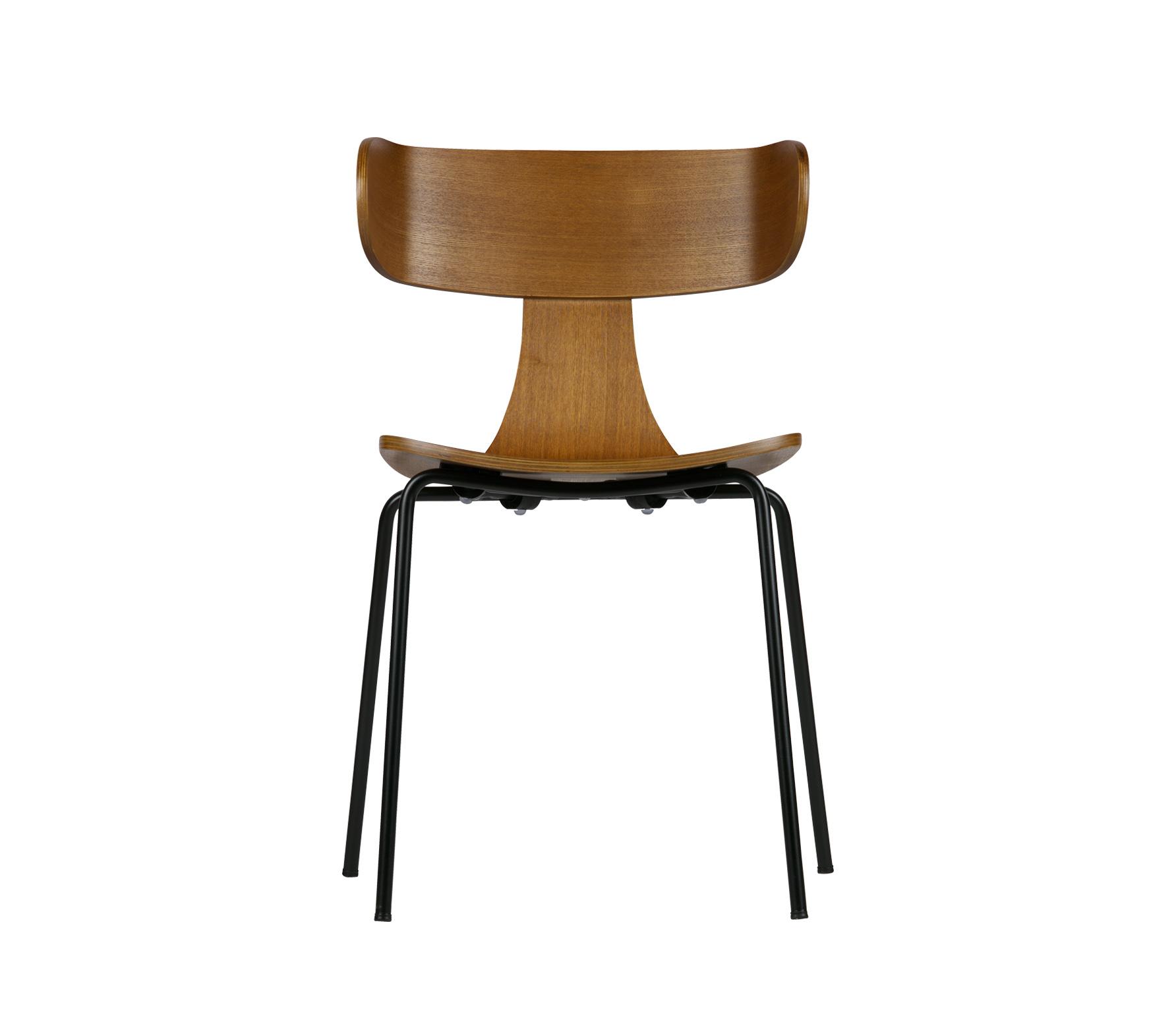 BePureHome Form houten stoel met metaal, bruin Bruin