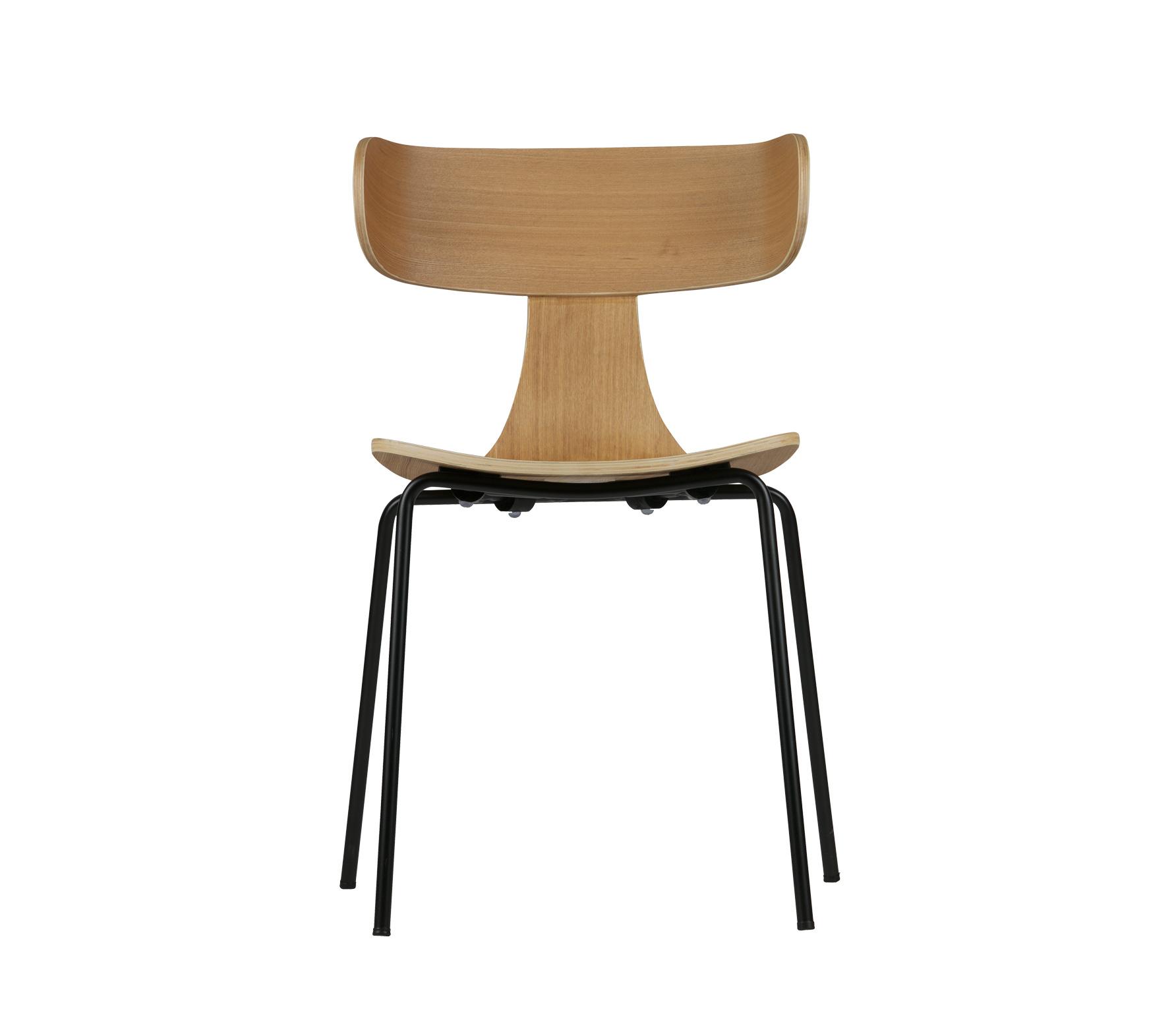 BePureHome Form naturel houten stoel met metaal vrijstaand