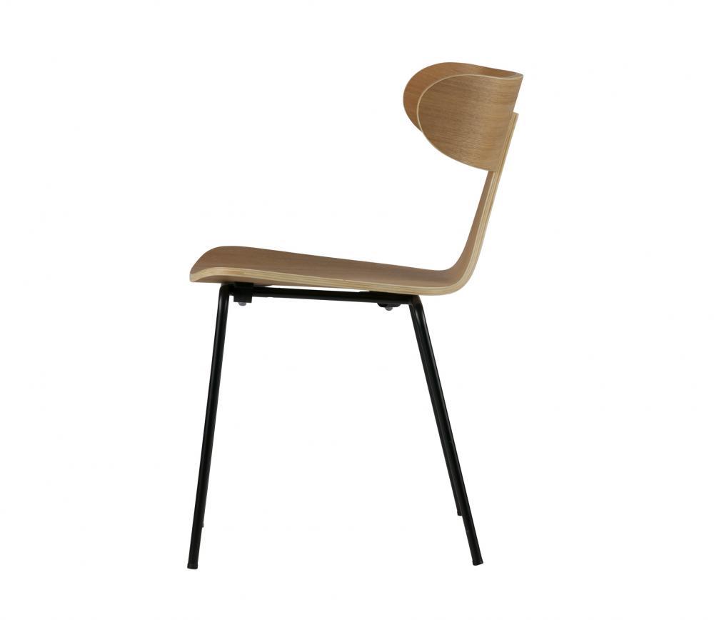 BePureHome Form naturel houten stoel met metaal vrijstaand 3