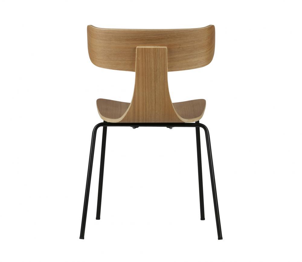 BePureHome Form naturel houten stoel met metaal vrijstaand 4