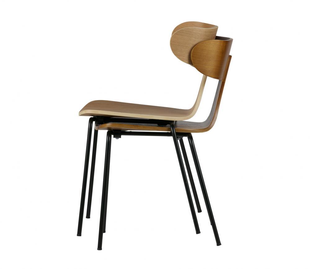 BePureHome Form naturel houten stoel met metaal vrijstaand 5
