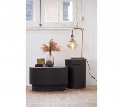 Afbeelding van product: WOOOD Dean salontafel H34 x Ø 60 cm (binnen-buiten) betonlook bruingrijs