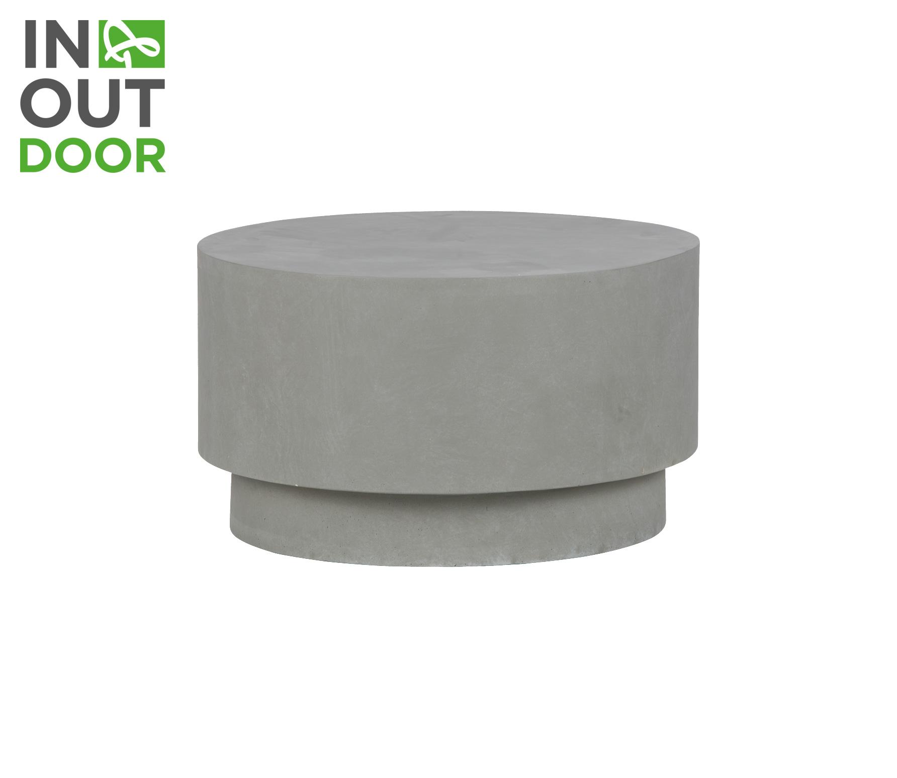 WOOOD Dean salontafel beton medium grijs vrijstaand