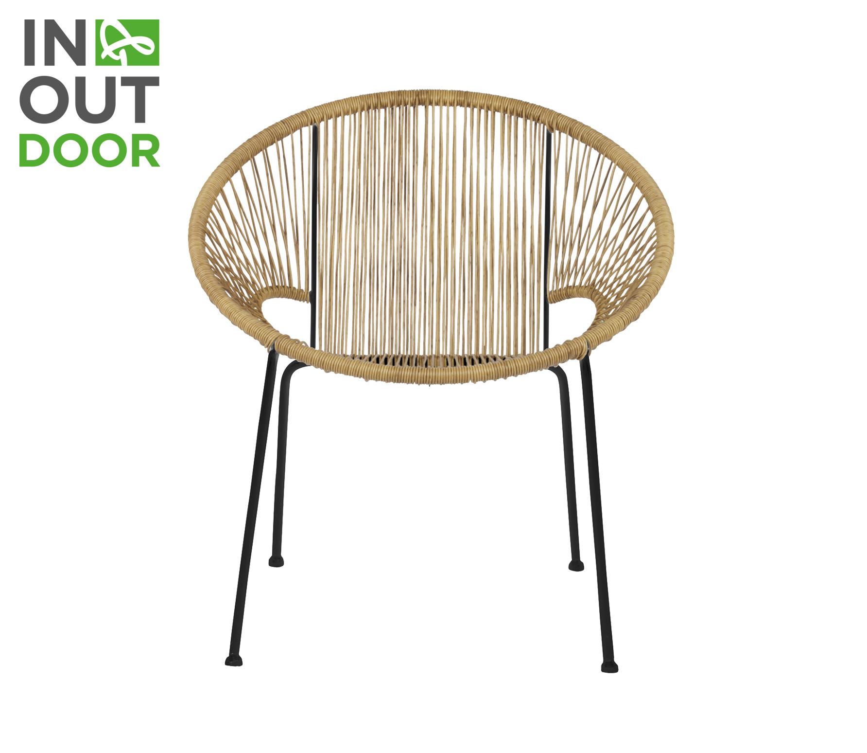 WOOOD Cocktail (binnen-buiten) stoel naturel vrijstaand