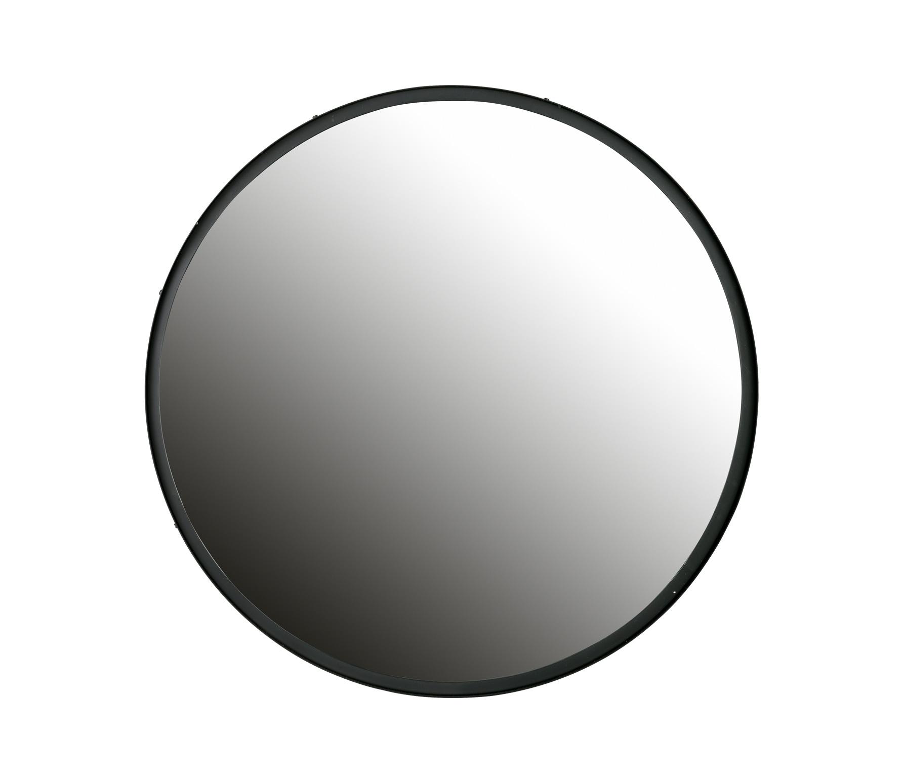 WOOOD Lauren spiegel metaal zwart, div afmetingen Ø80 cm