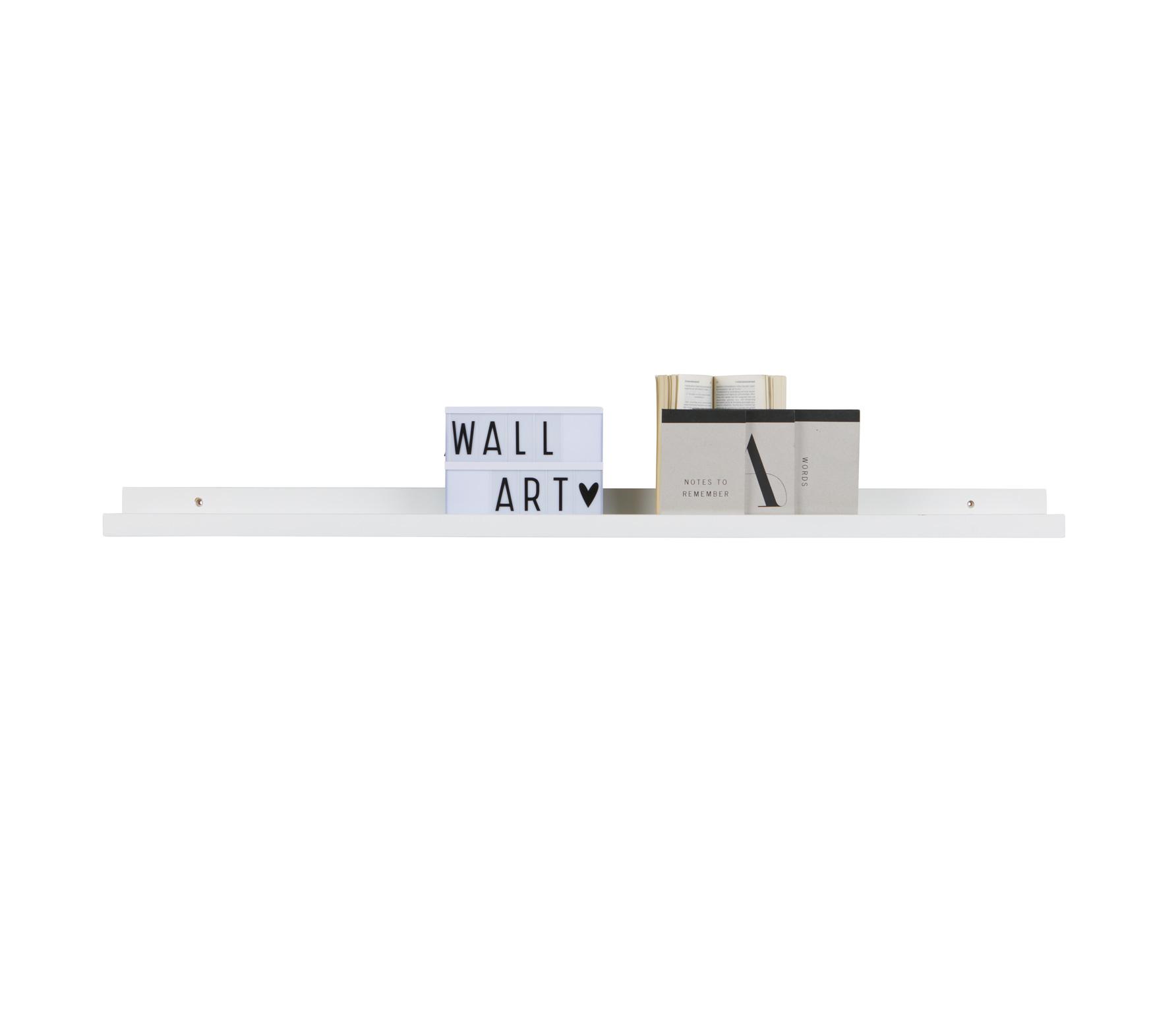 WOOOD Wandplank fotolijsten 120 cm wit MDF