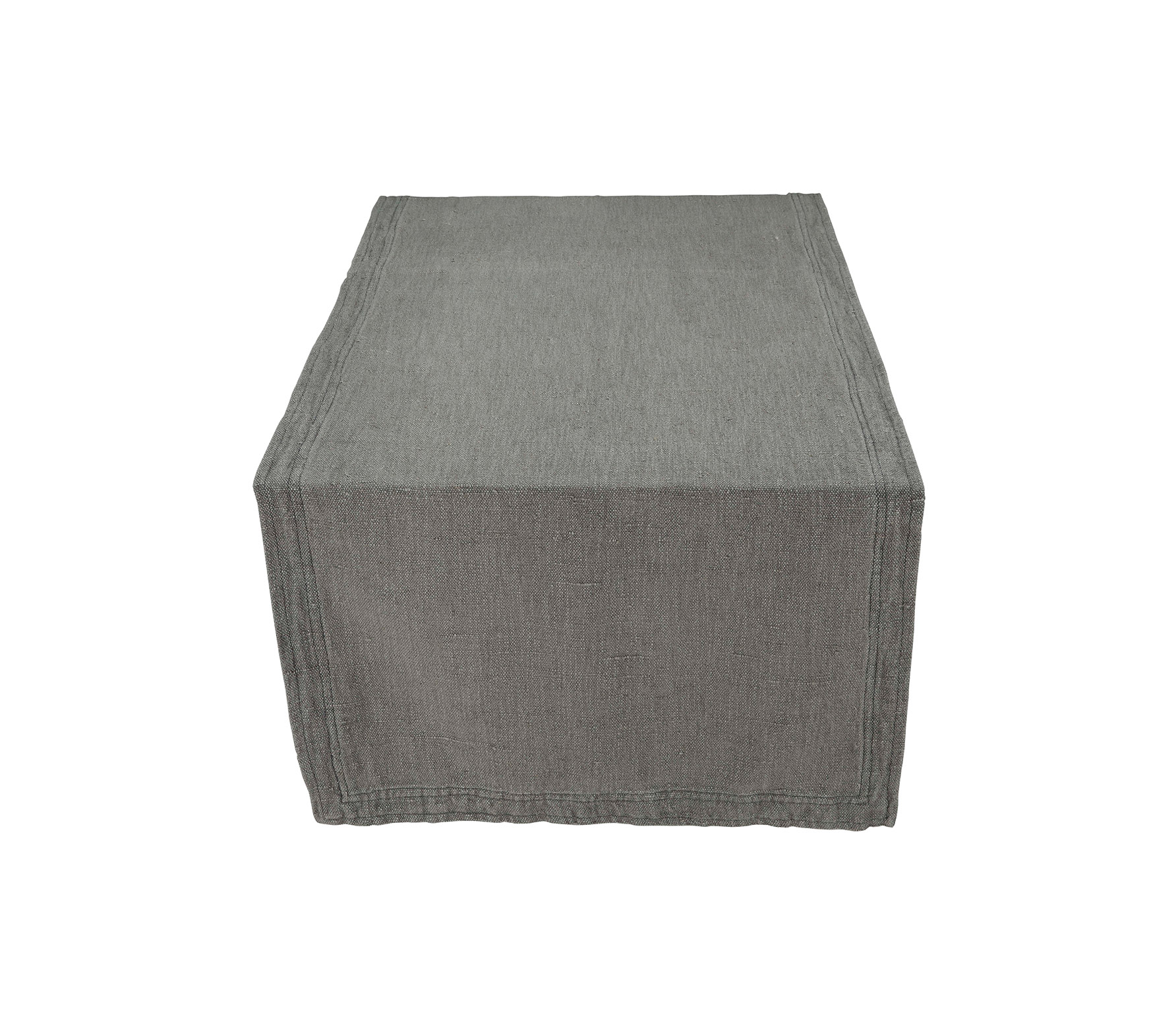 vtwonen tafelloper katoen linnen grijs vrijstaand