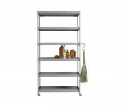 Afbeelding van product: vtwonen Stack-it hoge bakkerskast 179x98x45 cm metaal betongrijs