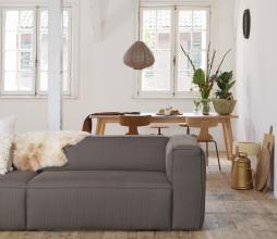 Afbeelding van product: BePureHome Form houten stoel met metaal, bruin bruin