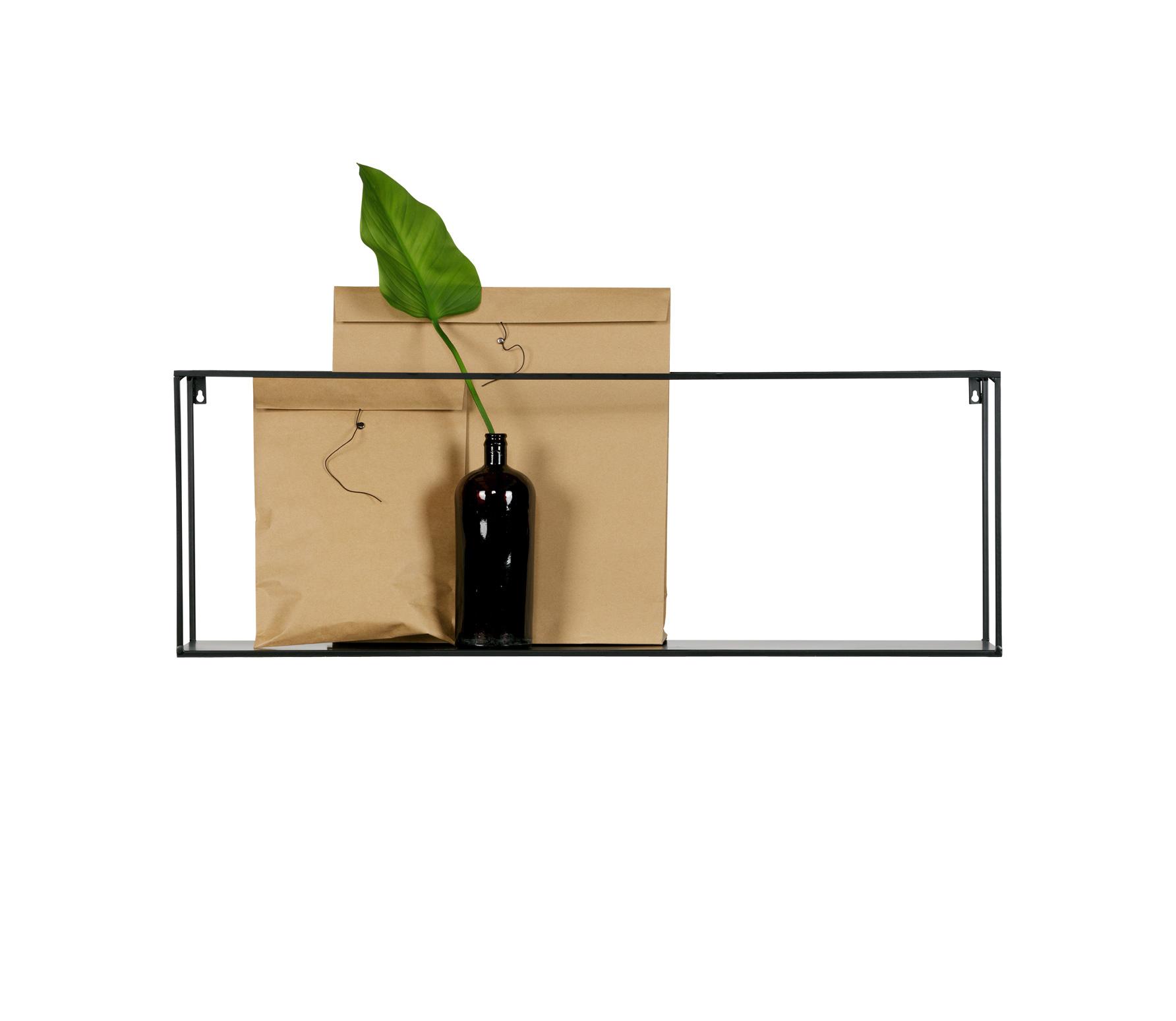 Wandplank Zwart Metaal.Woood Connect Wandplank Set Van 2 Zwart Globosplaza Com