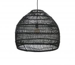 Afbeelding van product: HKLiving Ball hanglamp riet zwart Ø 60 cm