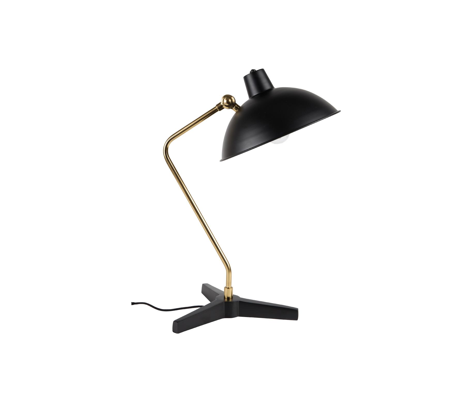 Dutchbone Devi bureaulamp zwart Metaal