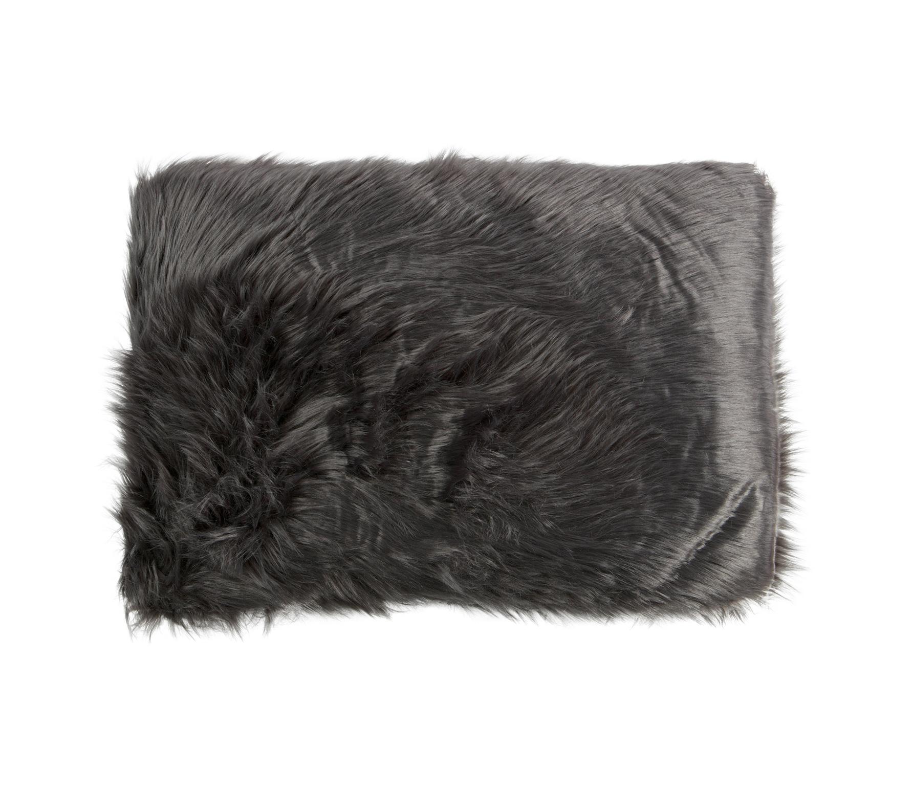 Imitatie schapenvacht kussen 40x60 cm grijs
