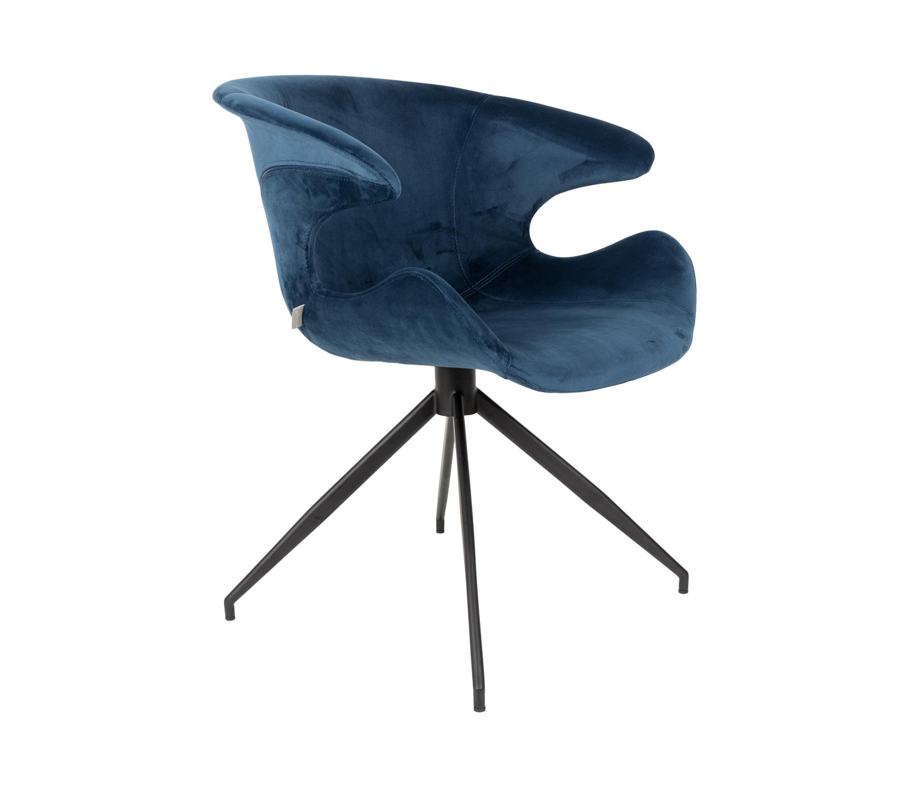 Zuiver Mia eetkamerstoel met armleuning blauw