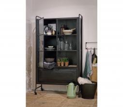 Afbeelding van product: BePureHome Steel storage vitrinekast 184x105x40 cm metaal zwart