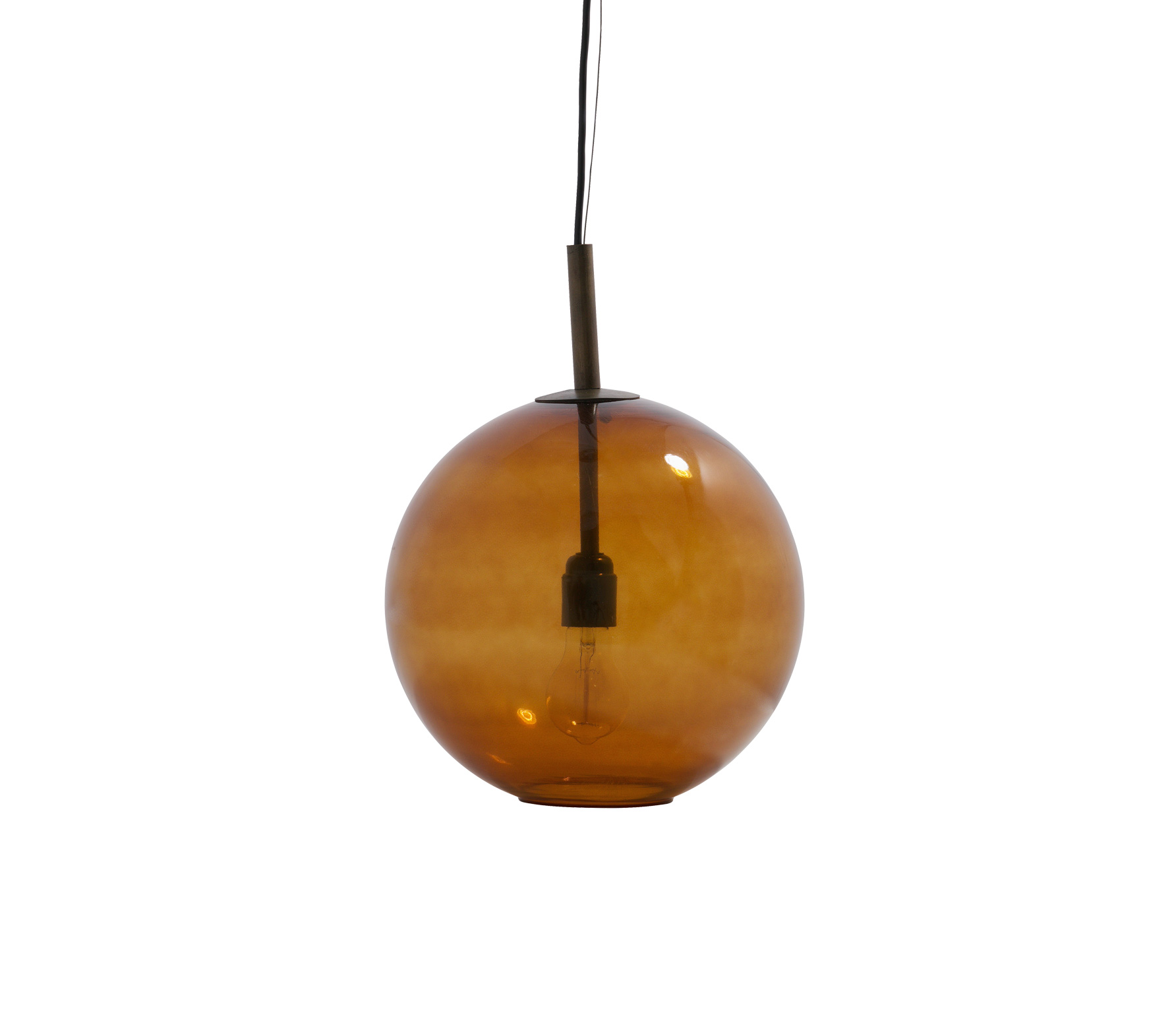 BePureHome Bold Hanglamp Medium Glas - Roest