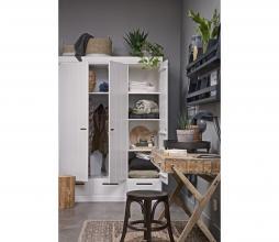Afbeelding van product: WOOOD Connect 3-deurs kast 195x140x53 cm sleufgrepen grenen wit