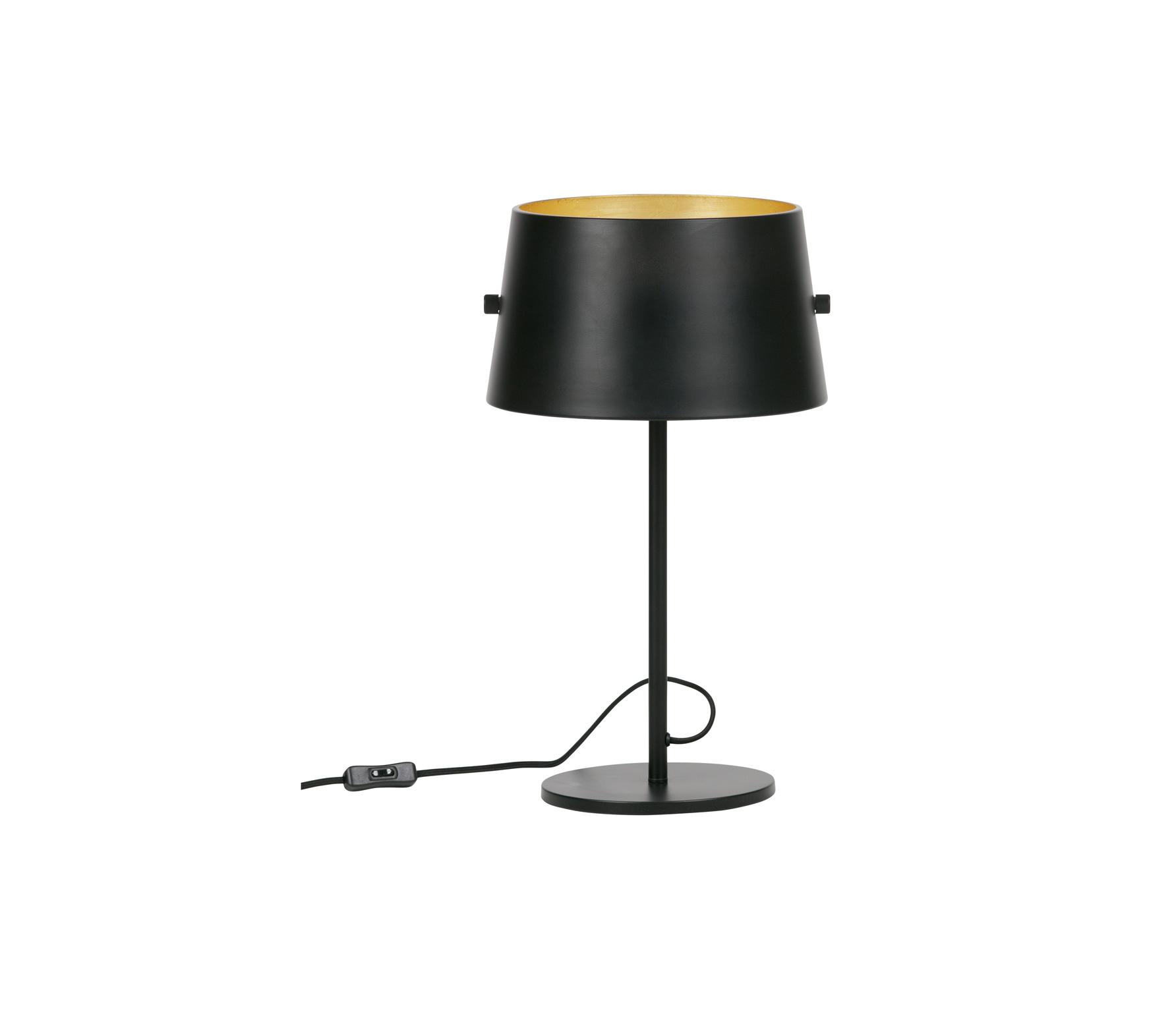 WOOOD Exclusive Pien tafellamp metaal zwart brass