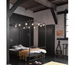 Afbeelding van product: vtwonen Bunk hemelbed div. afmetingen zwart metaal 90x200