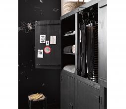 Afbeelding van product: vtwonen Bunk 4-deurs kast 200x120x37 cm bezaagd grenen mat zwart