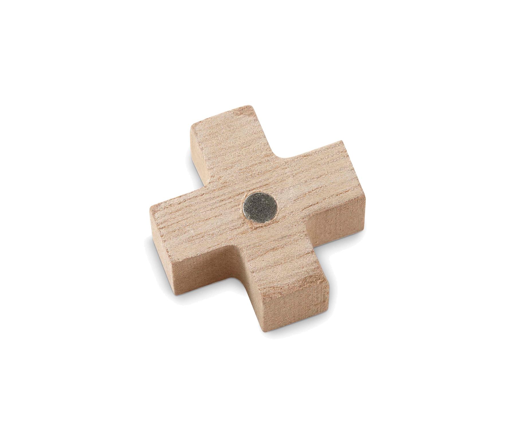 vtwonen magneten of x teken set van 6 hout naturel