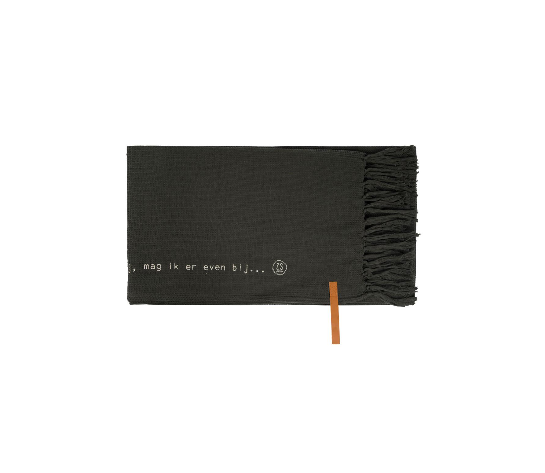 Zusss plaid gewafeld 130x170 cm katoen off-black
