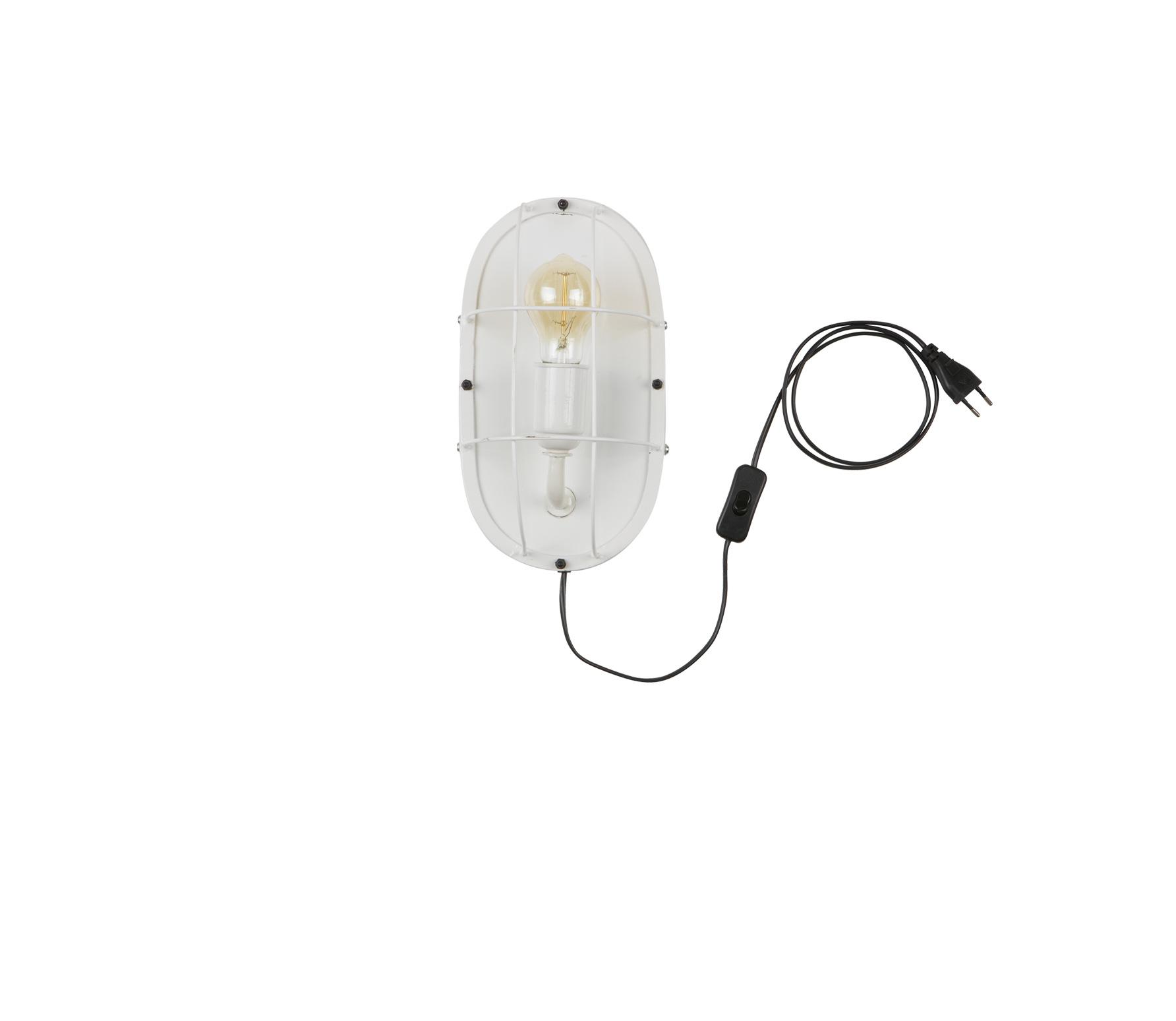 WOOOD Exclusive Gabber wandlamp metaal wit
