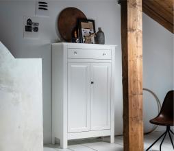 Afbeelding van product: WOOOD Eva meidenkast 150x93x40 cm grenen wit
