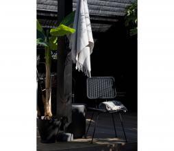 Afbeelding van product: WOOOD Exclusive Hilde eetkamerstoel (binnen-buiten) polyester zwart