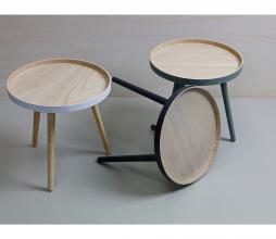 Afbeelding van product: WOOOD Sasha bijzettafel Ø 41x41 cm hout groen