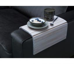 Afbeelding van product: WOOOD flexibele dienblad armleuning hout whitewash extra groot