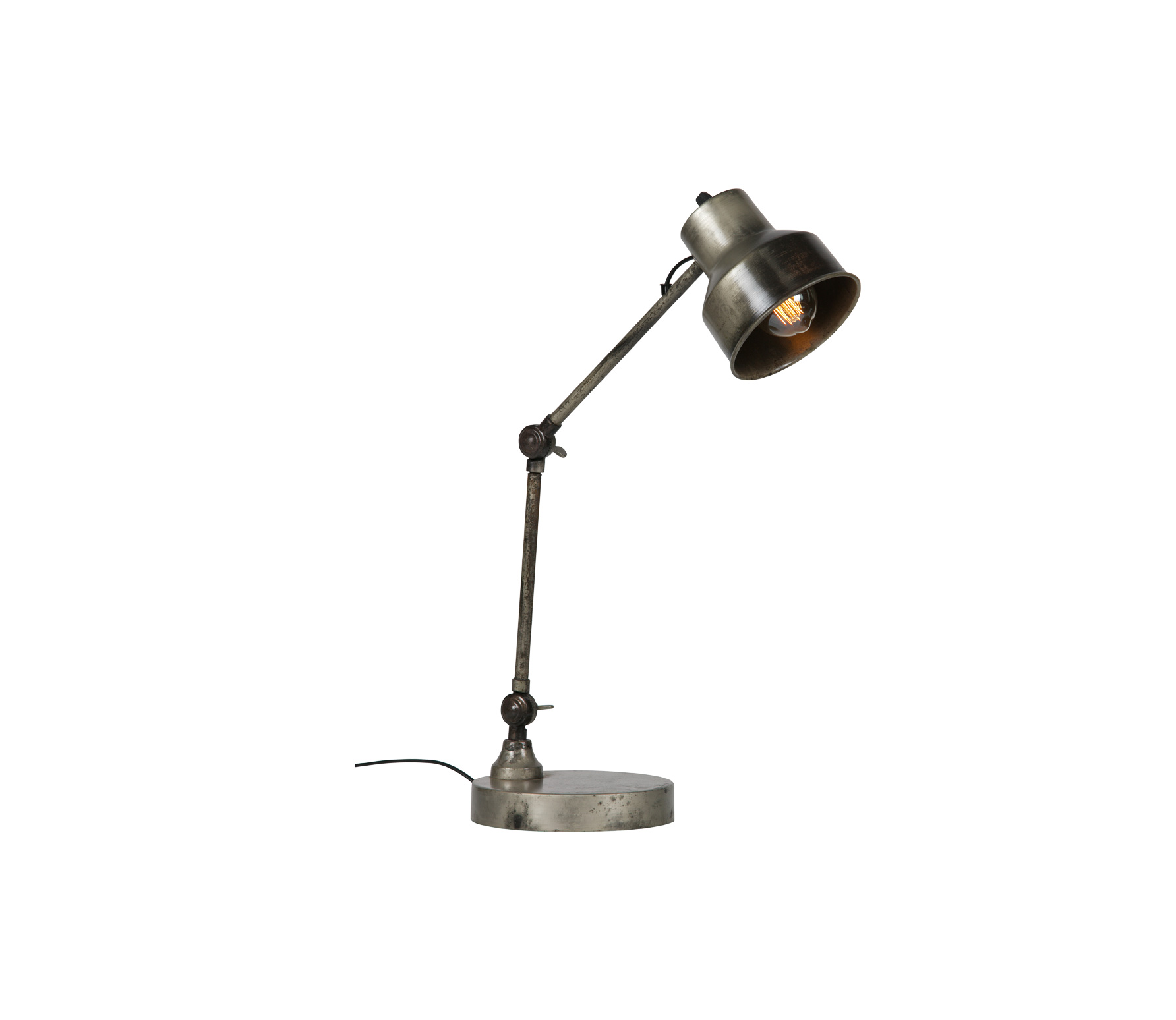 WOOOD Exclusive Hector staande lamp antique zilver metaal