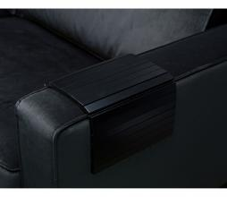 Afbeelding van product: WOOOD flexibele dienblad armleuning hout zwart normaal