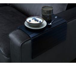 Afbeelding van product: WOOOD flexibele dienblad armleuning hout zwart extra groot