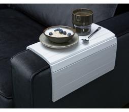 Afbeelding van product: Woood flexibele dienblad armleuning hout wit extra groot