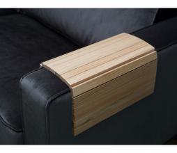 Afbeelding van product: WOOOD flexibele dienblad armleuning eiken blank extra groot
