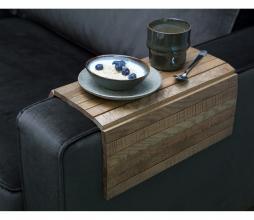 Afbeelding van product: WOOOD Flexibel dienblad armleuning eiken antique finish Extra groot