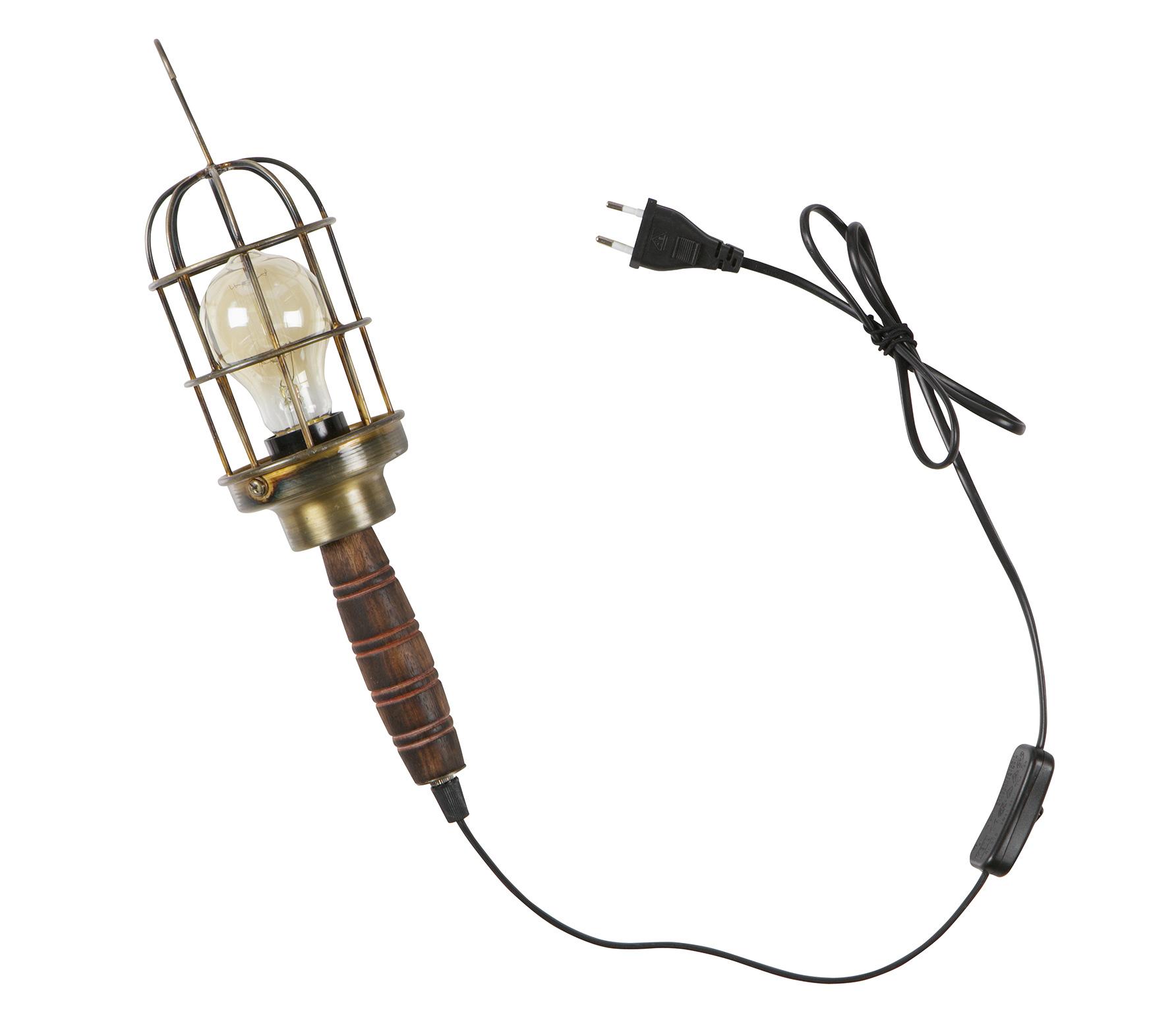 Bepurehome Mine Lamp Metaal - Antique Brass