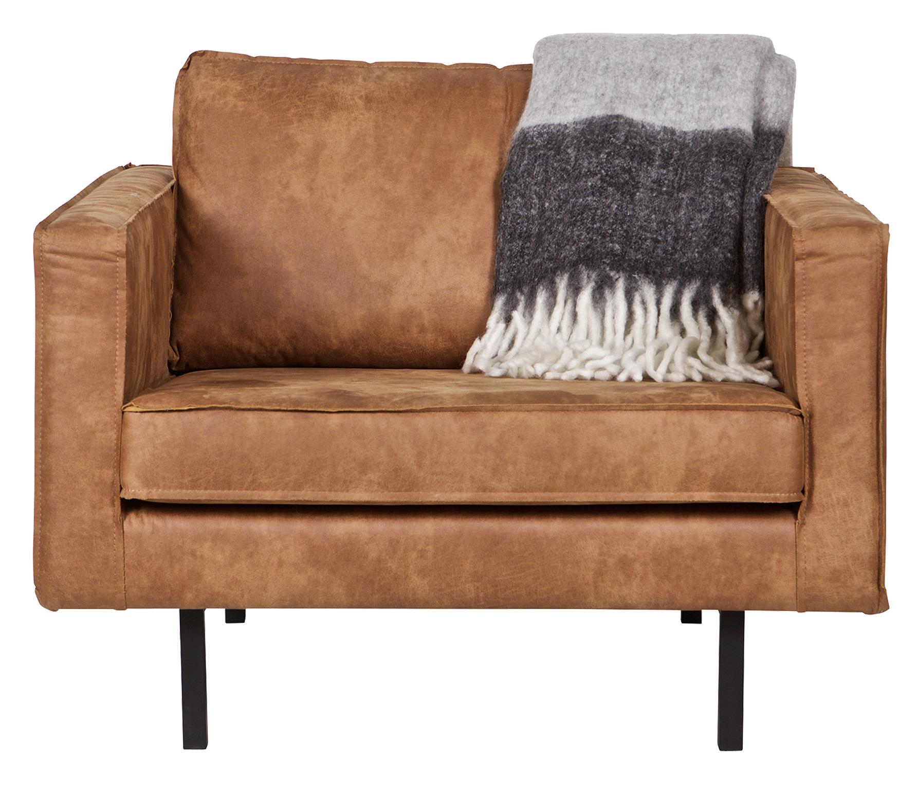 BePureHome Rodeo loveseat 1,5- zits fauteuil recycle leer cognac