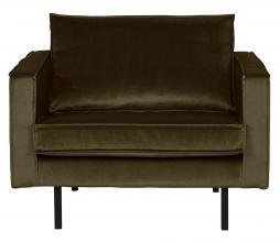 Afbeelding van product: BePureHome Rodeo 1,5 zits fauteuil velvet dark green hunter