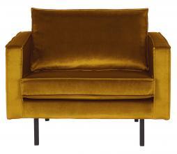 Afbeelding van product: BePureHome Rodeo 1,5 zits fauteuil velvet oker