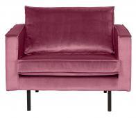 BePureHome Rodeo 1,5 zits fauteuil velvet roze