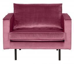 Afbeelding van product: BePureHome Rodeo 1,5 zits fauteuil velvet roze