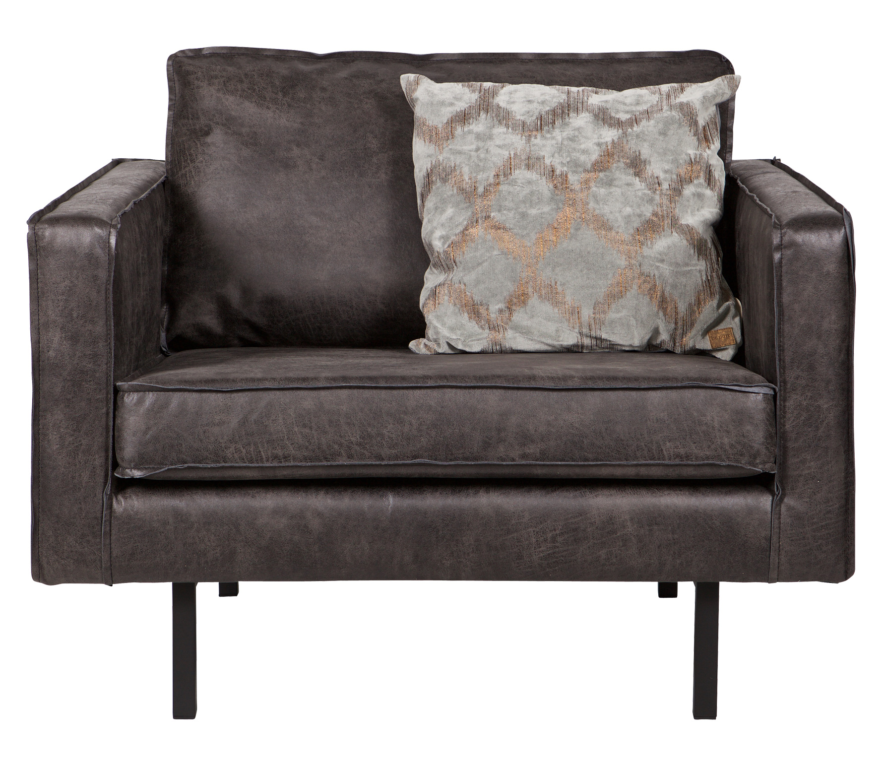 BePureHome Rodeo loveseat 1,5-zits fauteuil recycle leer zwart