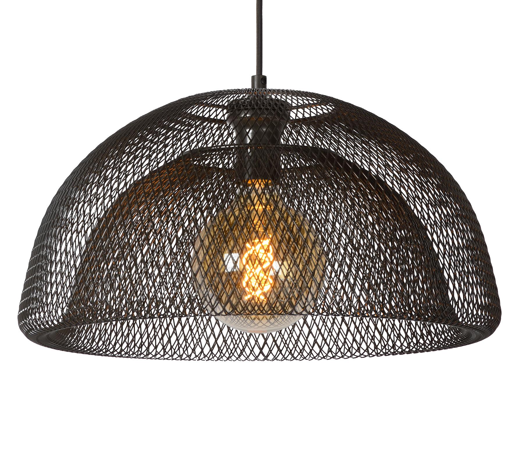 Lucide Mesh Hanglamp 46 cm - Zwart