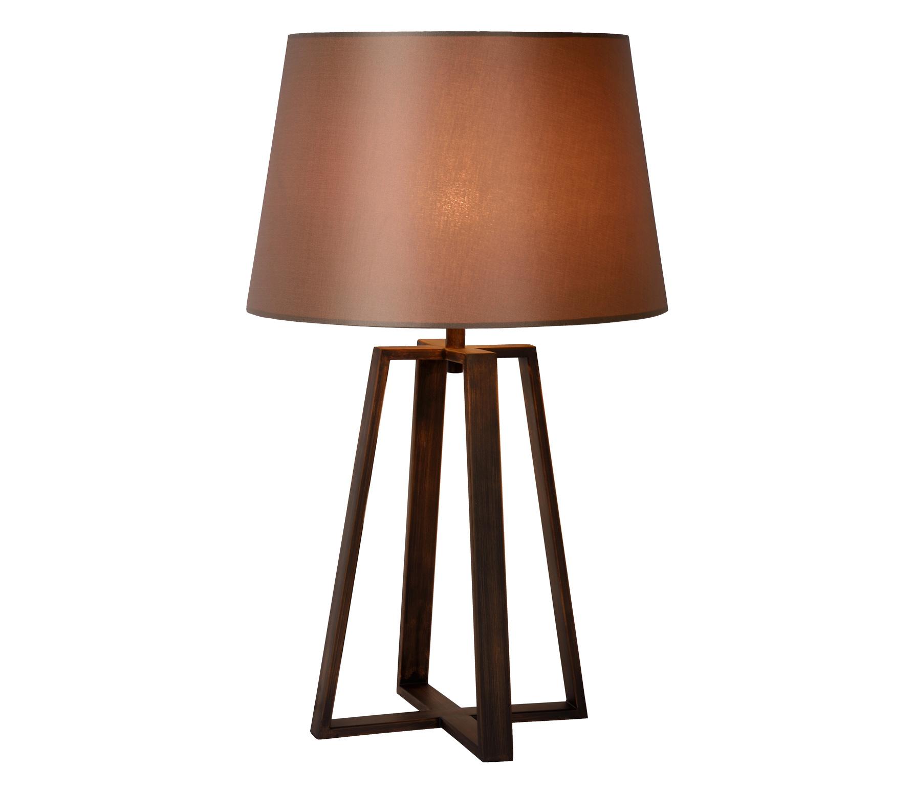 Coffee tafellamp Ø39 cm metaal stof roestbruin